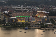 Pittsburgh Penguins Prints - Heinz Field Print by Jennifer Grover