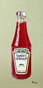 Ketchup Paintings - Heinz Ketchup by Alacoque Doyle