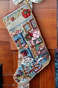 Linen Room Prints - Heirloom Stocking V Print by J McCombie
