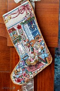 Mccombie Mixed Media - Heirloom Stocking VIII by J McCombie