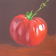 Vegetables Paintings - Heirloom Tomato by Elisabeth Olver