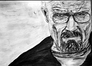 Danger Drawings Prints - Heisenberg- I am Danger Print by Ankit Dugar