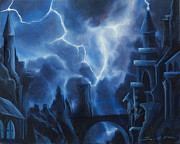 Thunder Paintings - Heisenburgs Castle by James Christopher Hill