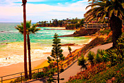 Heisler Park Framed Prints - Heisler Park Laguna Beach Framed Print by California Photo