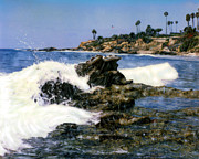 Heisler Park Framed Prints - Heisler Park Waves Laguna Framed Print by Glenn McNary