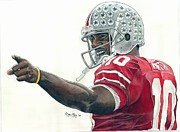 Sports Art Paintings - Heisman Troy by Jason Yoder