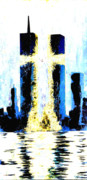 Twin Towers World Trade Center Digital Art - Held Before 9-11 Hope by Renee Nolan-Riley