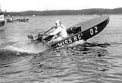 Helen Posters - Helen Hentshel of New York wins the Class B Outboard Races Poster by Underwood Archives