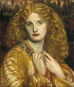 Rossetti Metal Prints - Helen of Troy Metal Print by Dante Gabriel Rossetti