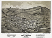 Old Map Photos - Helena Montana Map  1875 by Daniel Hagerman