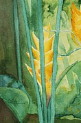 Diane Cutter Paintings - Heliconia by Diane Cutter