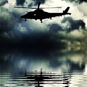 Steven Brennan Prints - Helicopter Print by Steven Brennan