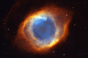 Eye Of Heaven Posters - Helix Nebula Poster by Ricky Barnard