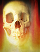 Skeleton Framed Prints - Hell Fire Framed Print by Edward Fielding