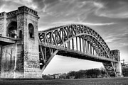 City Of Bridges Posters - Hell Gate BW Poster by JC Findley
