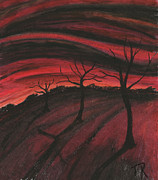 Surrealism Pastels - Hell Valley by Thomas Robertson II