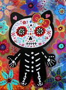 Gato Paintings - Hello Kitty Dia De Los Muertos by Pristine Cartera Turkus