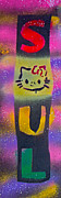 Hello Kitty Paintings - Hello Soul Kitty by Tony B Conscious