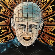 Pinhead Framed Prints - Hellraiser Framed Print by S G Williams