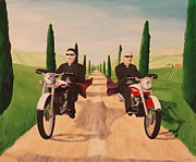 Priests Paintings - Hells Angels by Anthony  Moman