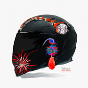 Helmet Digital Art - Helmet by Sam  Gates