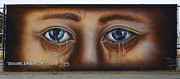 Graffiti Wall Art Posters - Help Me Look Through Your Eyes Poster by Bob Christopher