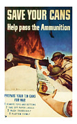 Patrotic Framed Prints - Help Pass The Ammunition - World War 2 Art Framed Print by Presented By American Classic Art