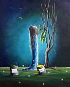 Pop Surrealism Paintings - Helping Tomorrow by Shawna Erback by Shawna Erback