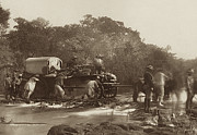 Photographs Mixed Media - Helping Wagons through the Nuanetsi River - 1890 by Outpost Imagery
