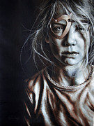 Missing Child Painting Originals - Helpless Cry by Mario Pichler