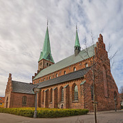 Danish Photos - Helsingor church 04 by Antony McAulay