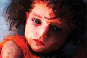 Orange Digital Art Originals - HELY-My Daughter by Anand Purohit