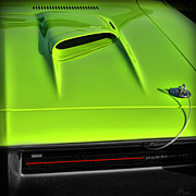 Muscle Car Mopar 1973 Dodge Digital Art - Hemicuda 70 by Gordon Dean II