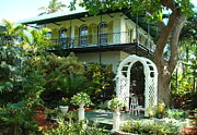 Florida Flowers Metal Prints - Hemingway House Metal Print by Kay Gilley