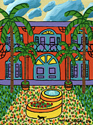 Key West Paintings - Hemingway House - Key West by Mike Segal
