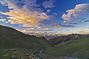 Hiking Prints - Hemis Sunset Print by Aaron S Bedell