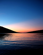 Finger Lakes Photo Originals - Hemlock Lake at dusk by Steve Clough