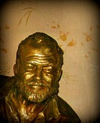 Halifax Art Work Metal Prints - Hemmingway in Havana Metal Print by John Malone
