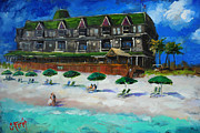 Couples Painting Prints - Henderson Inn Destin Florida Print by Carole Foret