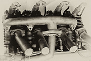 Single-engine Photos - Henderson Motorcycle Engine with a  Heath Parasol Kit  by Wilma  Birdwell