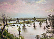 Bayous Painting Originals - Henderson Swamp by Arlen Avernian Thorensen