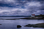 Maine Lighthouses Digital Art Prints - Hendricks Head Light Print by Jeff Folger