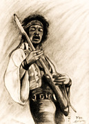 Stratocaster Mixed Media - Hendrix-Antique Tint Version by Roz Barron Abellera