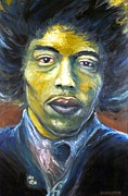 Electric Guitar Painting Originals - Hendrix Experienced by Mike Underwood