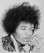 Steven Beattie - Hendrix in pencil