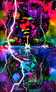 Jimi Hendrix Digital Art Prints - Hendrix Print by Mal Bray