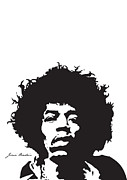 Guitar Player Digital Art Posters - Hendrix No.01 Poster by Caio Caldas