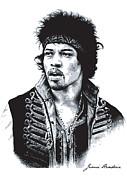 Hendrix No.02 Print by Caio Caldas