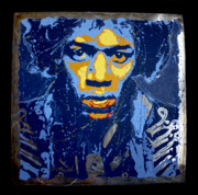 Purple Sculptures - Hendrix on Steel by Chris Mackie