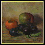 Bos Bos Digital Art - Henk Bos Fruits Still Life Plums  by Pierpont Bay Archives